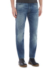 Hugo Boss Delaware slim fit light wash jeans