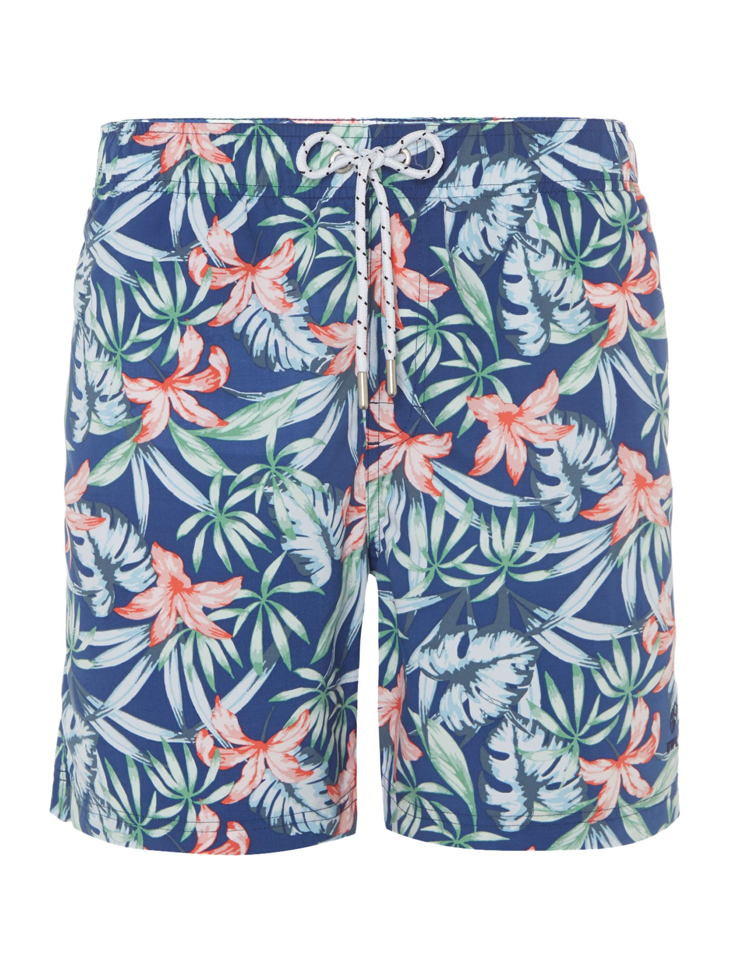 Men's Howick Jungle Leaf Print Swim Short, Blue