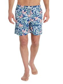 Howick Jungle Leaf Print Swim Short
