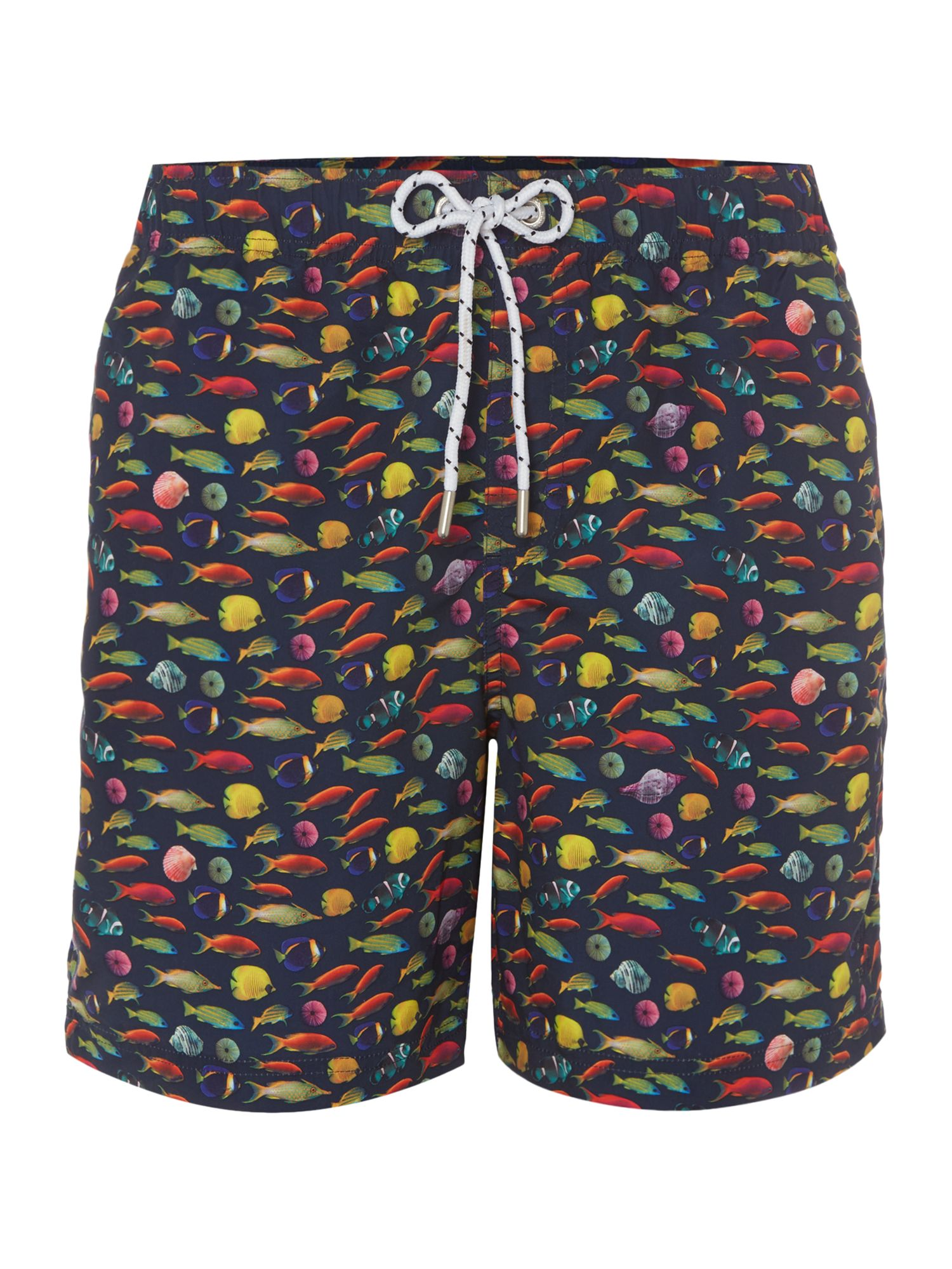 Men's Howick Fish Photographic Swim Short, Blue
