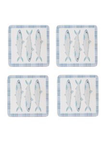 Linea Coast Cork Coasters Set of 4