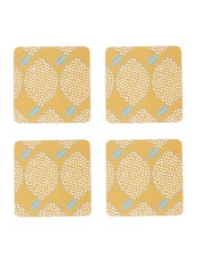 Dickins & Jones Lemons Coasters Set of 4