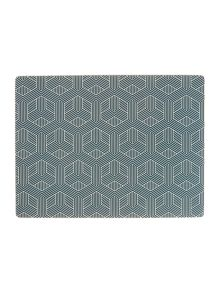 Living by Christiane Lemieux Mai Hexagon Placemats & Coasters Set of 8