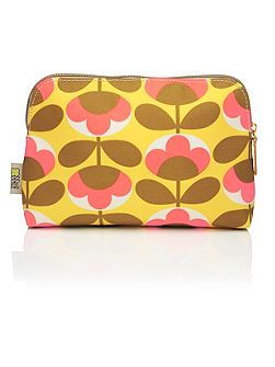 Oval flower cosmetic bag