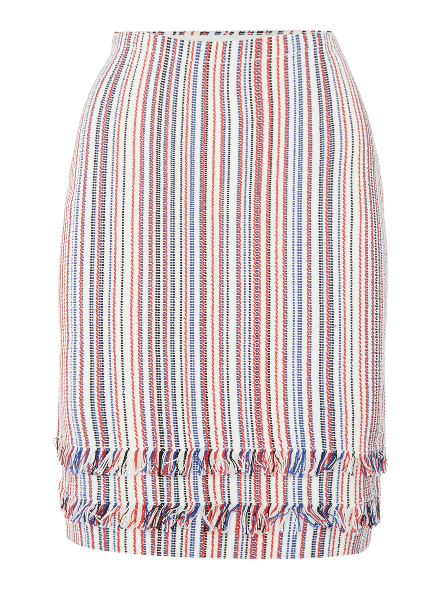 Hugo Boss Knitted striped pencil skirt, Multi-Coloured