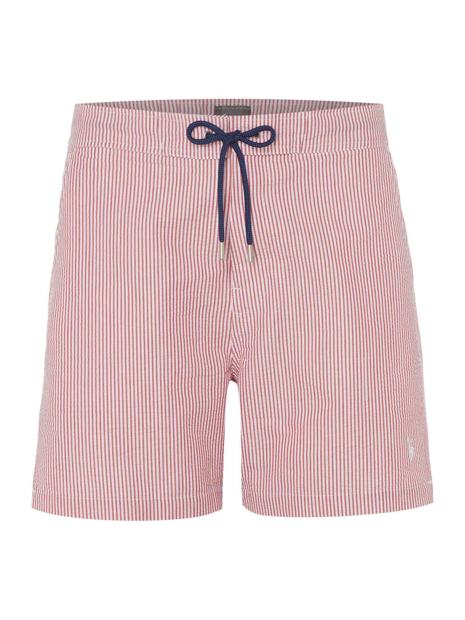 Men's Linea Seersucker Stripe Swim Short, Red