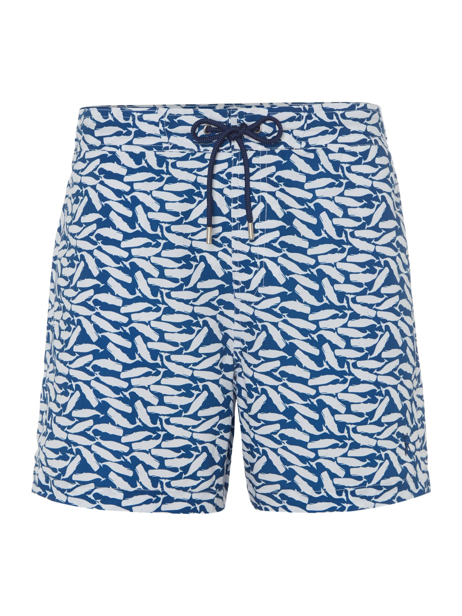Men's Linea Whale Print Swim Short, Blue