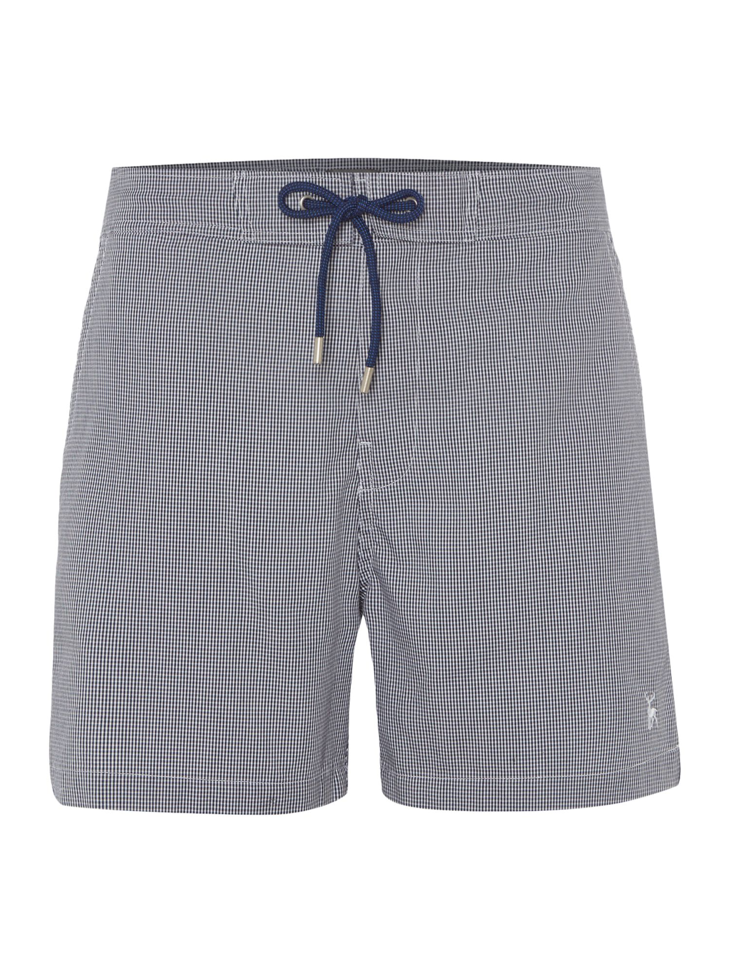 Men's Linea Micro Gingham Textured Swim Short, Blue