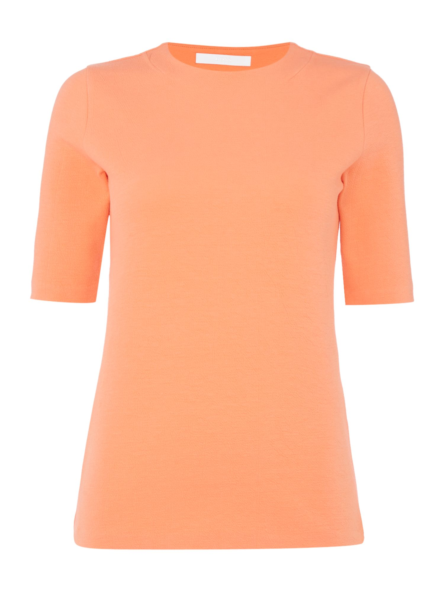 Hugo Boss Shortsleeve jersey top with crew neck, Red