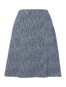 Hugo Boss A line tweed skirt