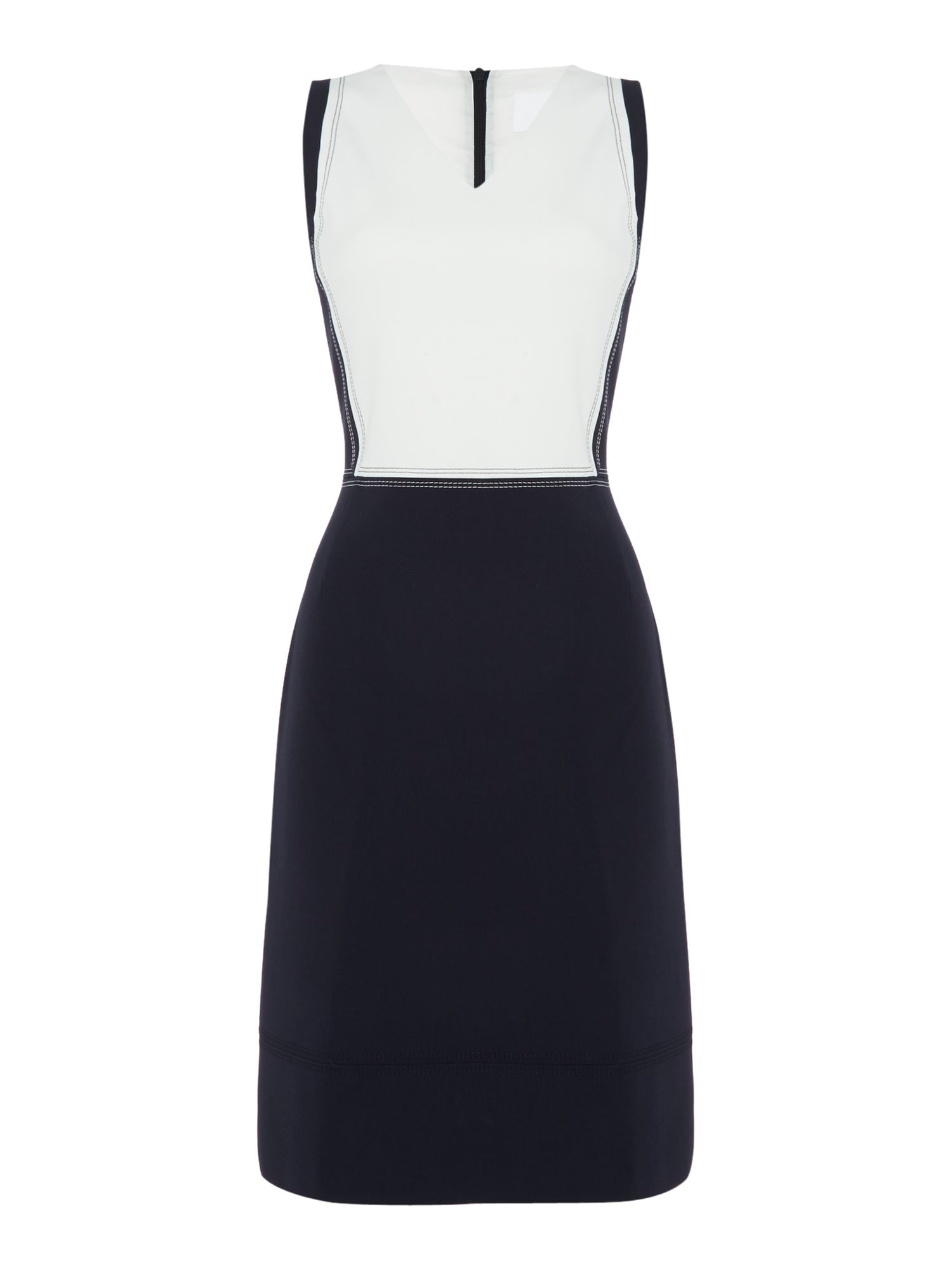 Hugo Boss Sleeveless dress with visible stitching detail, Blue