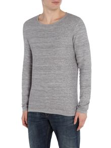 Selected Homme Textured-Knit Crew-Neck Cotton Jumper