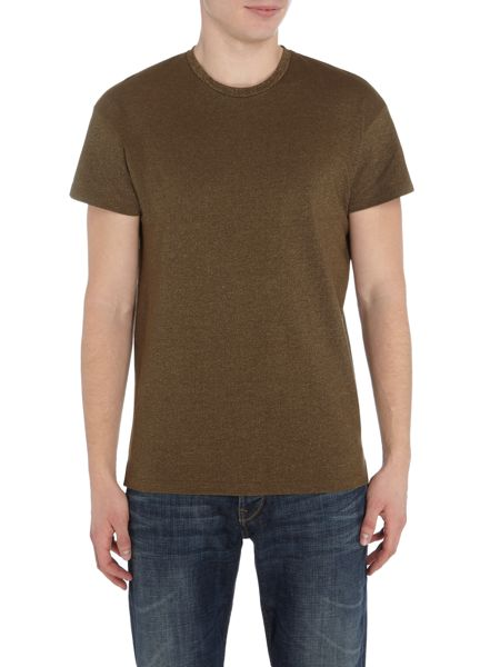 Selected Homme Marl Drop-Shoulder Crew-neck t-shirt