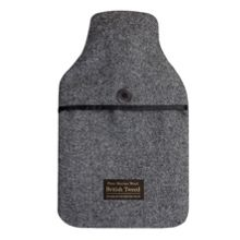Aroma Home British tweed hot water bottle