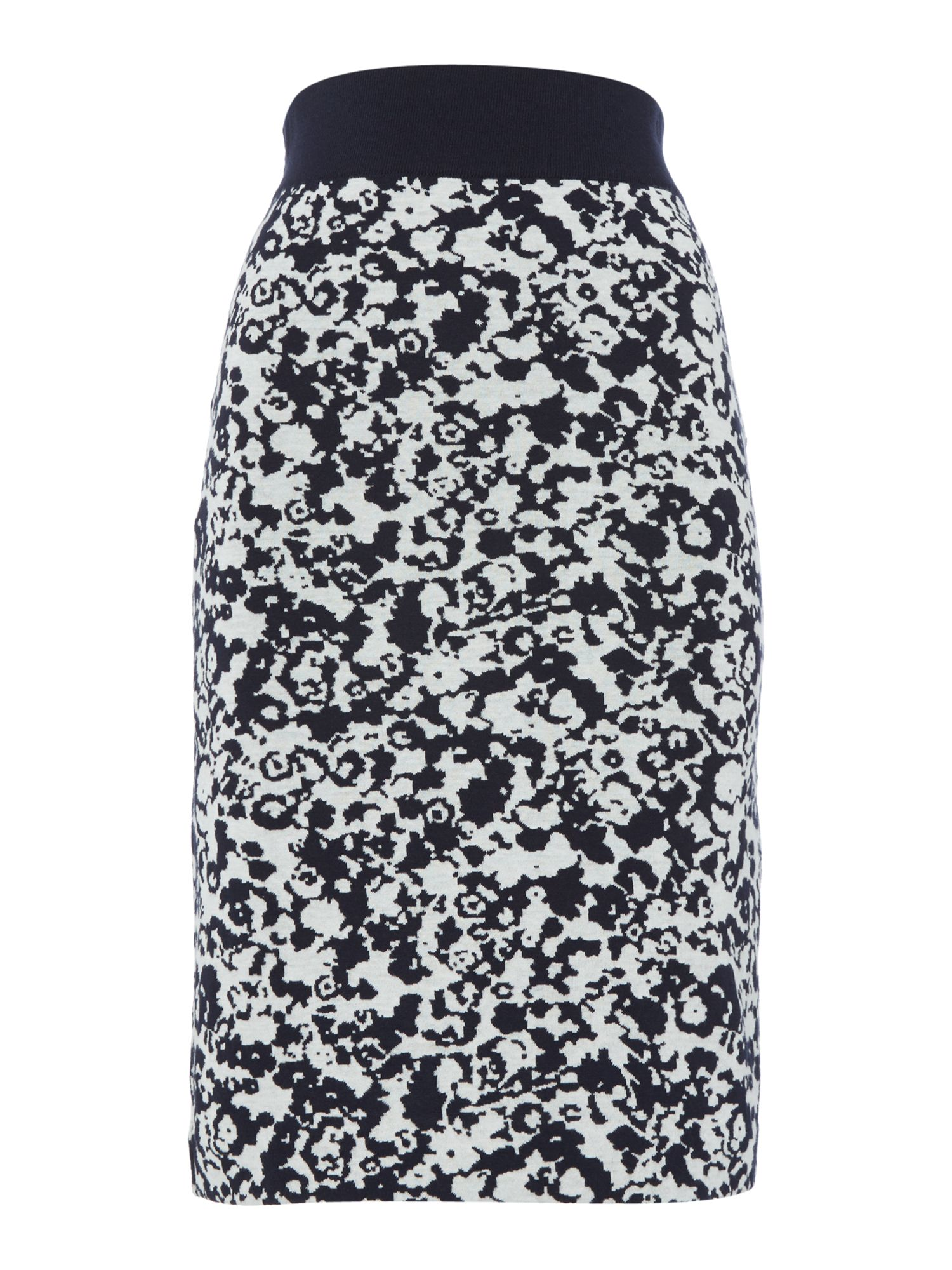 Hugo Boss Printed jersey pencil skirt, Blue