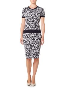 Hugo Boss Printed jersey pencil skirt