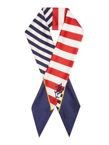 Lauren Ralph Lauren Anna square striped scarf