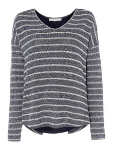 Maison De Nimes Pacific Wave Stripe Mix Sweat