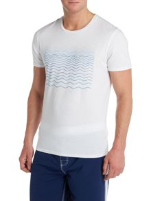 Criminal Tshirt With Wave Print