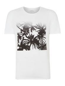 Criminal Tshirt Faded Palm Print