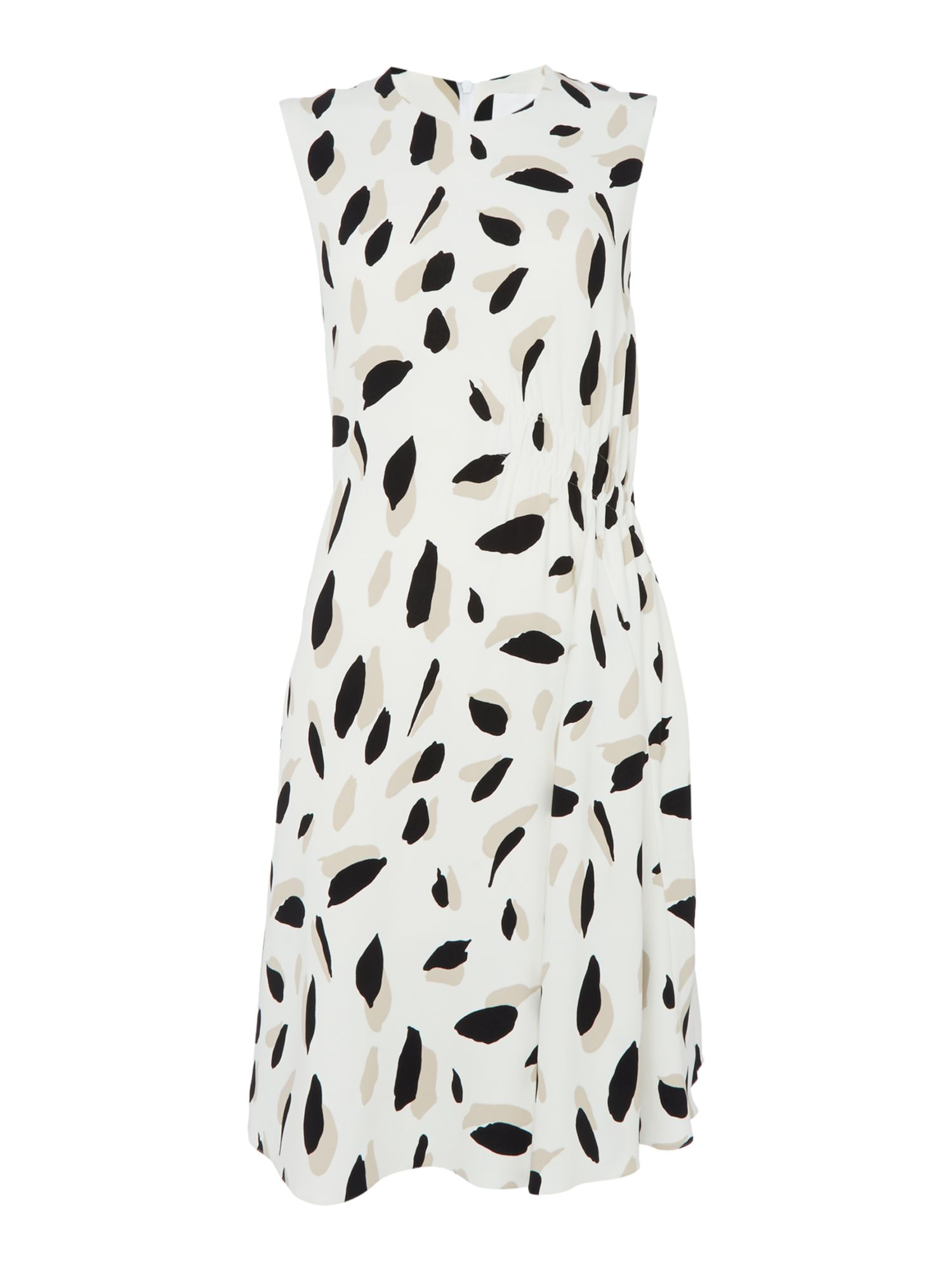 Hugo Boss Sleeveless printed shift dress, White