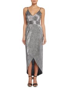 tfnc Sleeveless Metallic Midi Dress