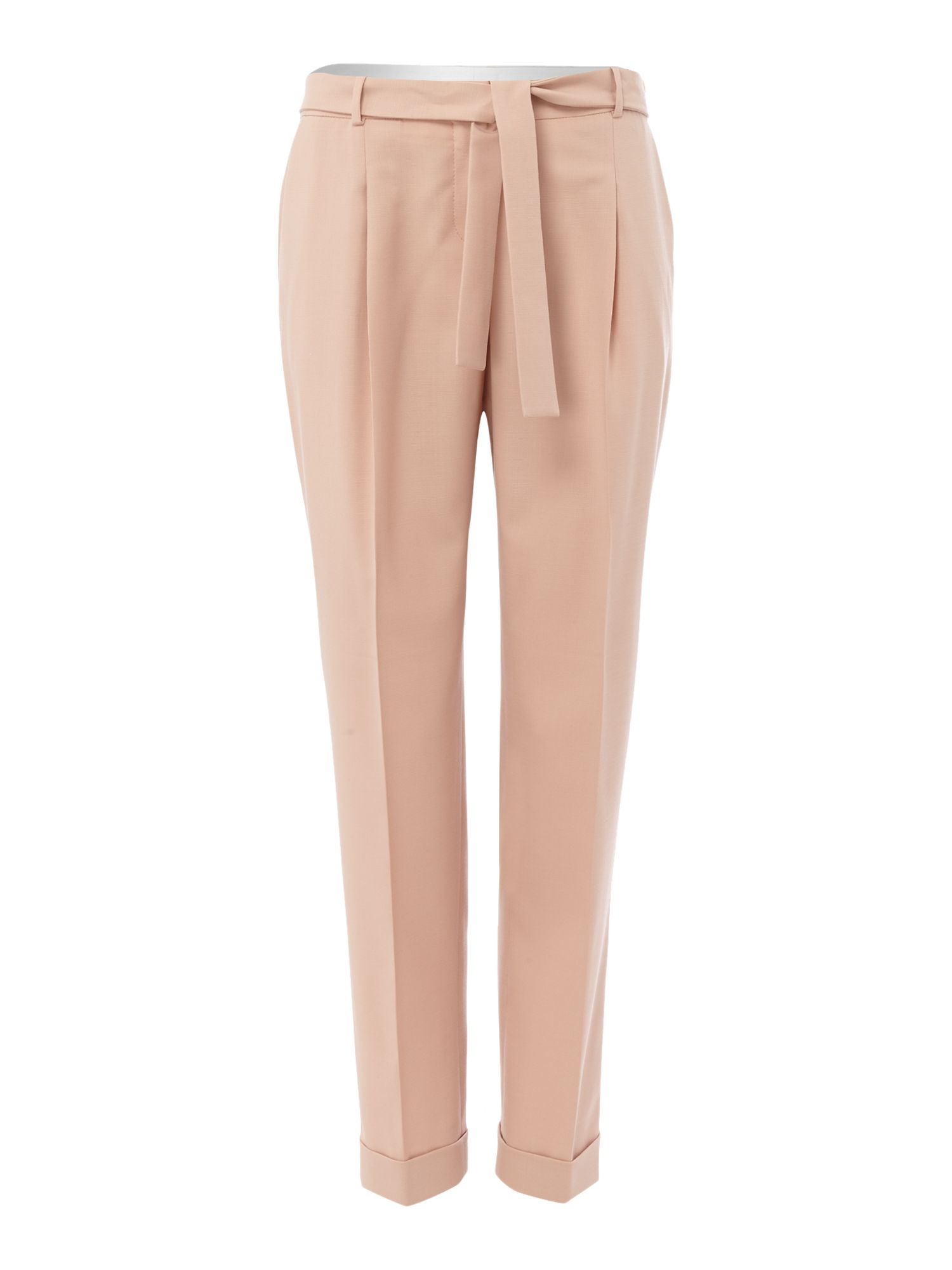 Hugo Boss Tapered trouser with tie belt, Pink