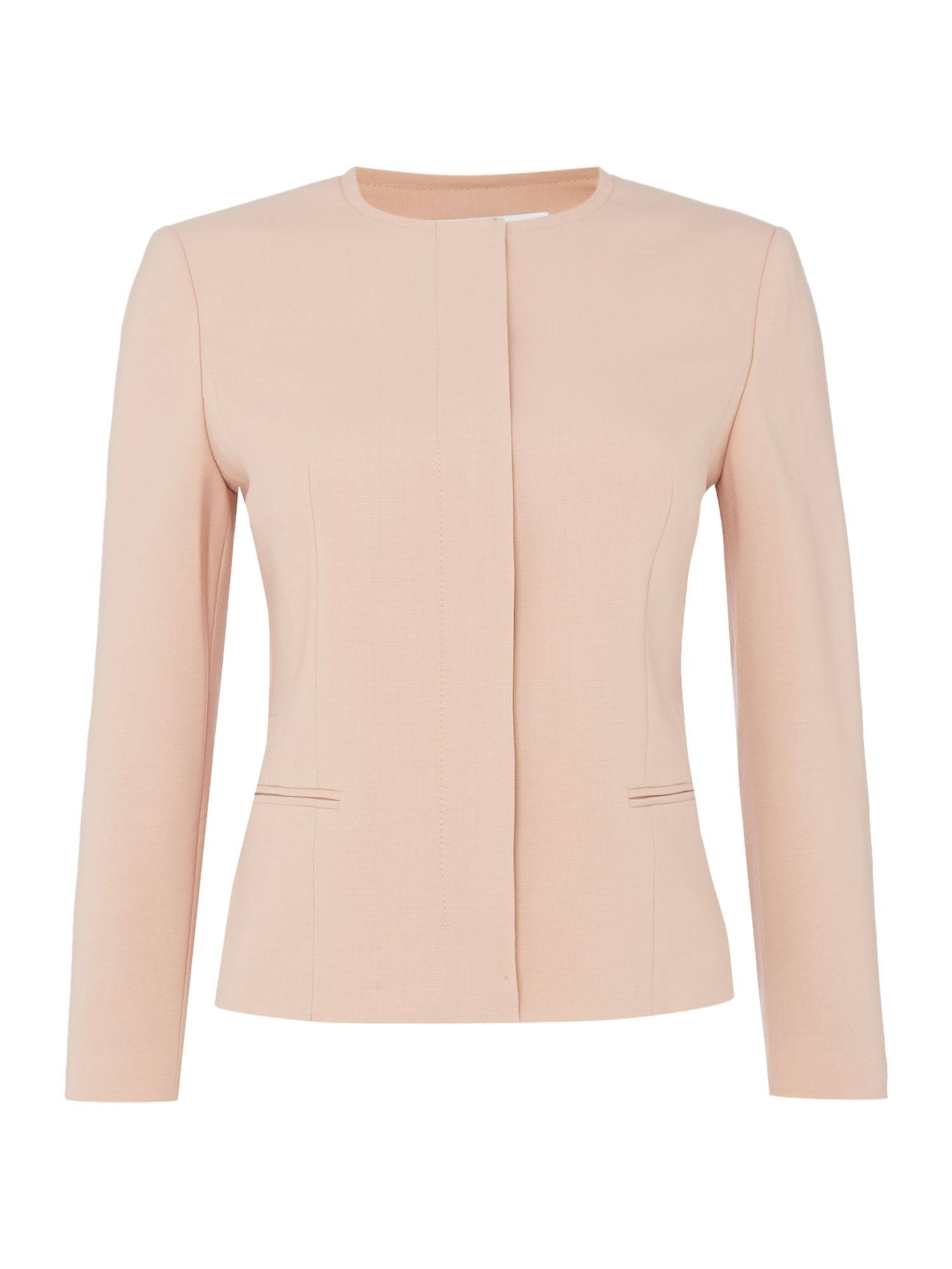 Hugo Boss Longsleeve collarless jacket, Pink