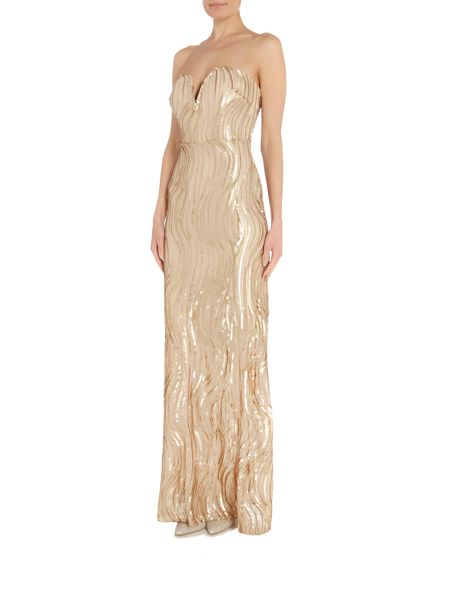 tfnc Strapless All Over Embellished Maxi Dress