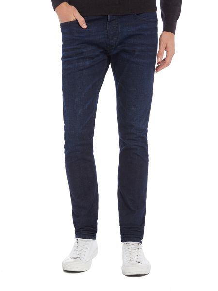 Diesel Tepphar stretch dark rinse carrot fit jeans
