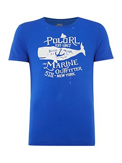 Large polo anchor print short sleeve t-shirt