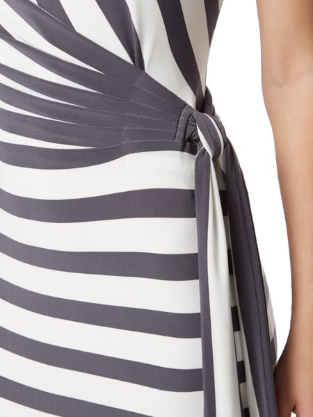 Lauren Ralph Lauren Stripe cap sleeve dress