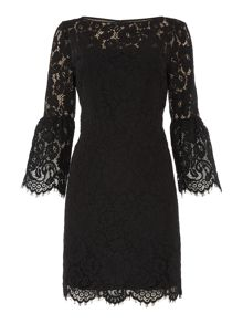 Lauren Ralph Lauren Yalie 3/4 sleeve lace dress