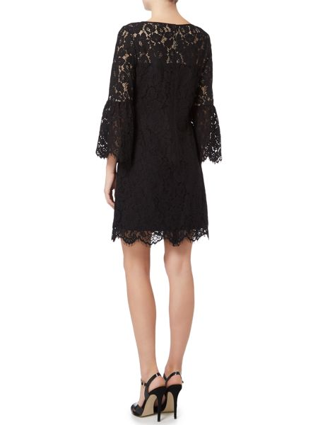 Lauren Ralph Lauren Lace flared 3/4 sleeve dress