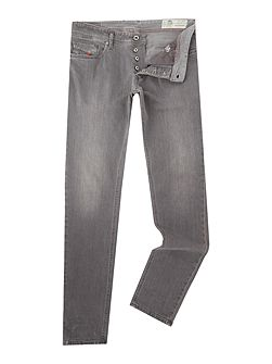 Sleenker skinny stretch light grey jeans