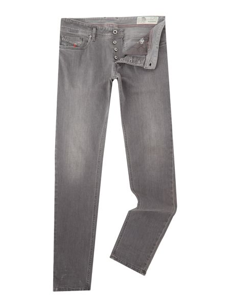 Diesel Sleenker skinny stretch light grey jeans