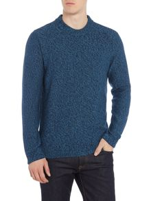 Hugo Boss Salt and pepper knitted crew neck jumper