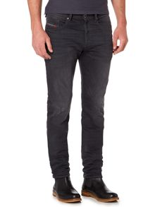 Diesel Buster stretch dark grey tapered jeans