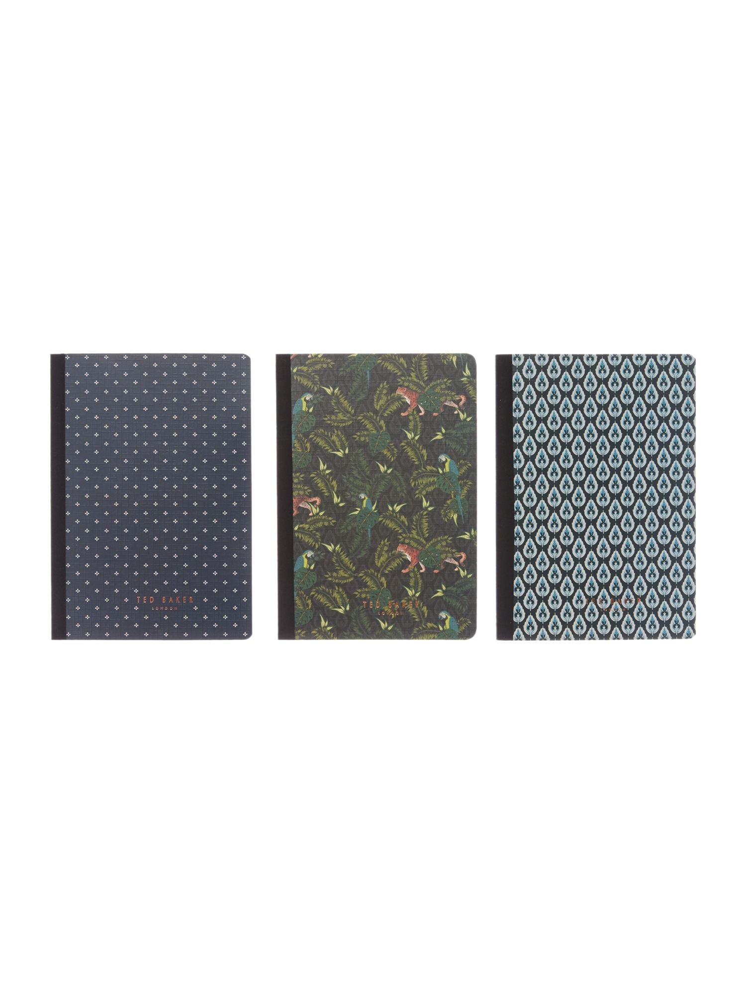 Ted Baker 3 Small Memo Books Gift Set
