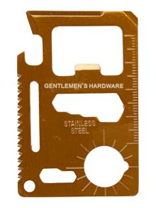Gentlemen's Hardware Multi-Purpose Credit Card Tool