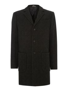 Selected Homme Textured Wool-Mix Coat
