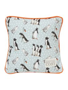 Emma Bridgewater Chatty penguins cushion 30cm x 30cm