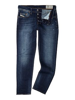 Larkee-beex dark blue tapered jeans