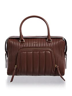 Gansevoort burgundy large satchel