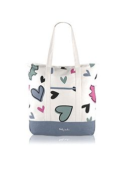 Love me large zip top tote bag