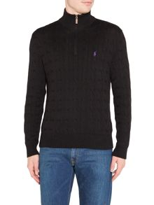 Polo Ralph Lauren Long sleeve half zip cable sweater