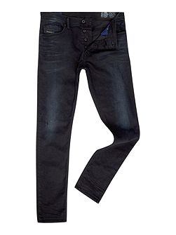 Tepphar stretch washed black carrot fit jeans