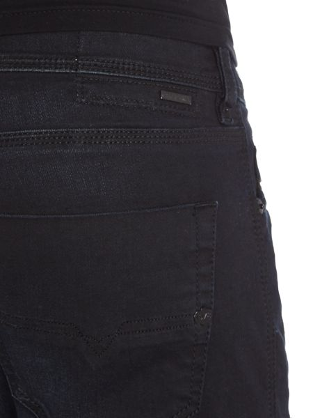 Diesel Tepphar stretch washed black carrot fit jeans