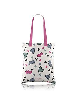 Love me love my dog medium tote bag