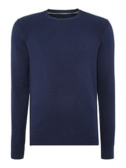 Crew neck cotton mix jumper